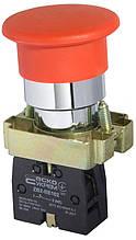 """XB2-BC42 Кнопка """"грибок"""" (d 40 мм) """"Стоп"""" червона"""
