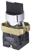 XB2-BD33 поворотна Кнопка 3-х поз. Станд. ручка