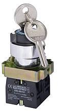 XB2-BG03 поворотна Кнопка з ключем 3-х позиційна