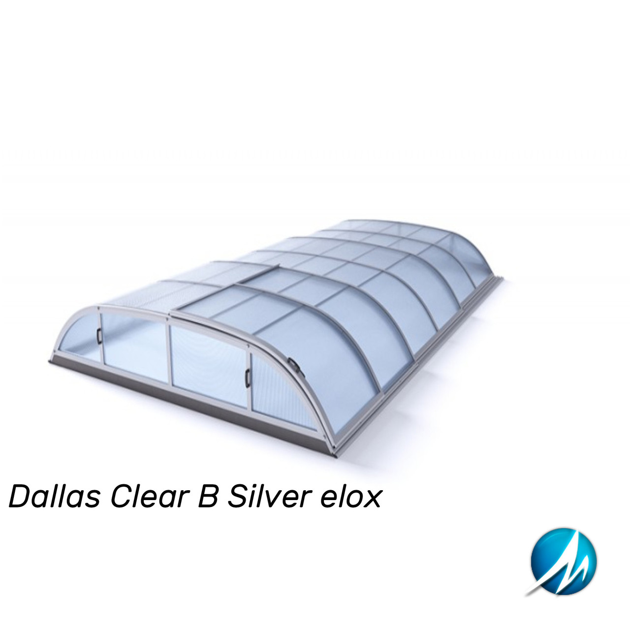 Павільйон для басейну Dallas Clear В 5,2x8,6x1,0м - Silver elox