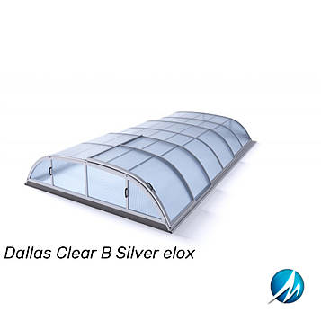 Павильон для бассейна Dallas Clear В 5,2x8,6x1,0м - Silver elox