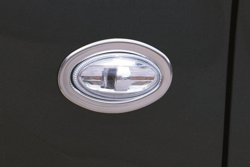 Обводка поворотника OmsaLine (2 шт, нерж) Peugeot 206 / Накладки на кузов Пежо 206