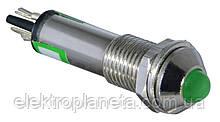Сигнальна лампа (арматура) металева AD22B-8 зелена 24V AC/DC