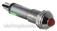 Сигнальна лампа (арматура) металева AD22B-8 червона 24V AC/DC