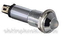 Сигнальна лампа (арматура) металева AD22B-8 біла 220V AC