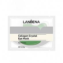 Патчи под глаза гидрогелевые Lanbena Collagen Crystal Eye Mask, зеленые, 1 пара