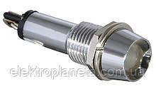 Сигнальна лампа (арматура) металева AD22C-9 біла 24V AC/DC