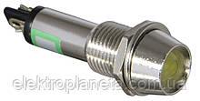 Сигнальна лампа (арматура) металева AD22C-9 жовта 24V AC/DC