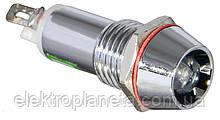 Сигнальна лампа (арматура) металева AD22C-10 біла 24V AC/DC