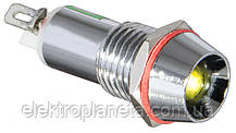 Сигнальна лампа (арматура) металева AD22C-10 жовта 24V AC/DC