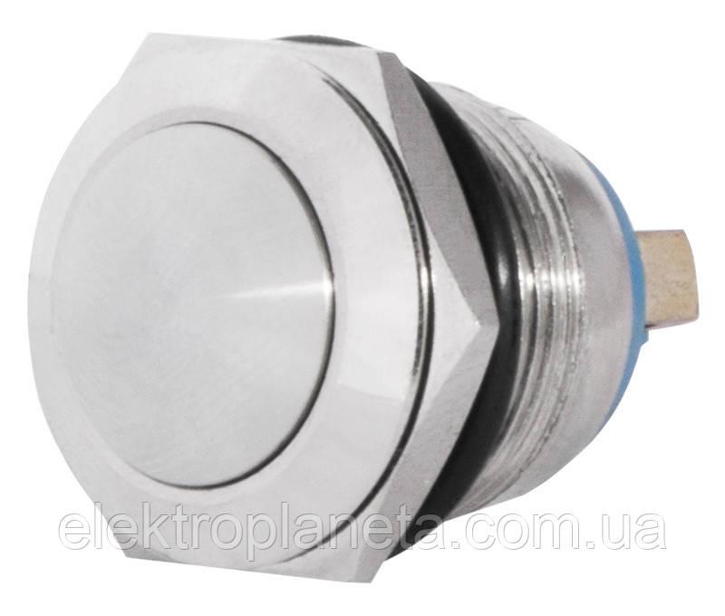 TY 19-231A Scr  Кнопка металева опукла, (гвинтове з'єднання), 1NO