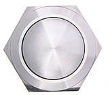 TY 19-231A Scr  Кнопка металева опукла, (гвинтове з'єднання), 1NO, фото 2