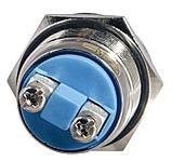 TY 19-231A Scr  Кнопка металева опукла, (гвинтове з'єднання), 1NO, фото 4