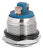 TY 19-231A Scr  Кнопка металева опукла, (гвинтове з'єднання), 1NO, фото 5