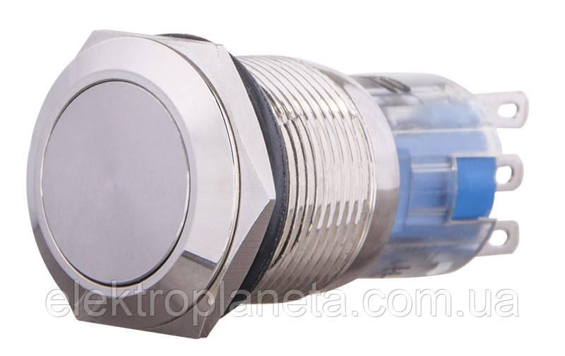 TYJ 19-311 Кнопка металева пласка з фікс., 1NO+1NC