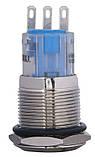 TYJ 19-311 Кнопка металева пласка з фікс., 1NO+1NC, фото 5