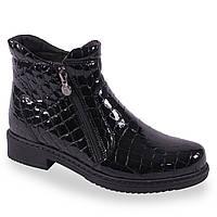 Модные жнские ботинки ( лаковые, зимные, черные, на каблуке, на замке, теплые, удобные)