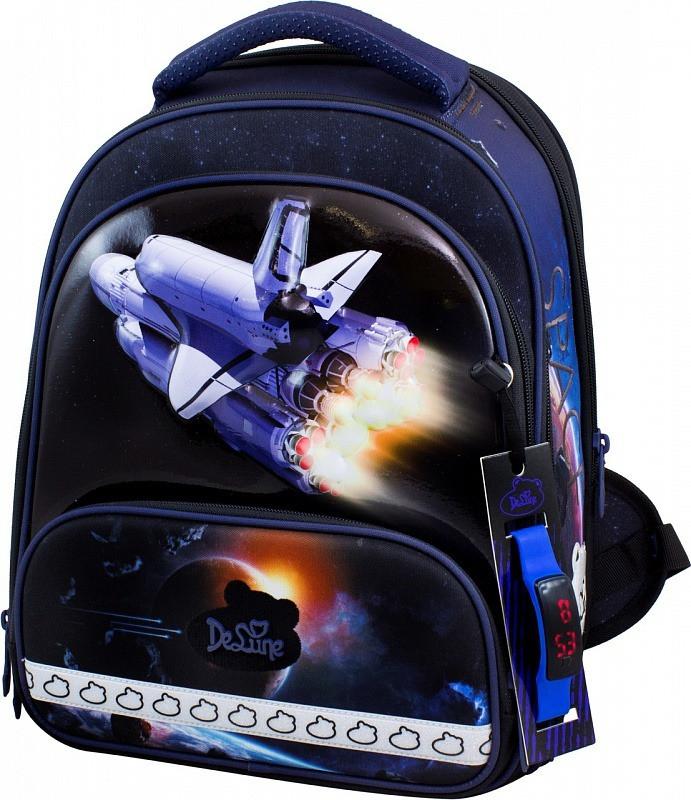 Рюкзак для хлопчика на 1-4 клас шкільний в комплекті пенал і сумка для взуття DeLune 9-130