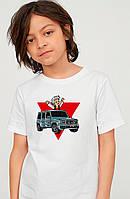 Біла дитяча футболка Влад А4