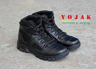 """Ботинки тактические кожаные демисезонные """"Шторм"""" Black (40-47)"""