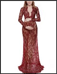 Длинное платье-пеньюар из кружева для фотосессии, на романтический вечер 3 цвета 303