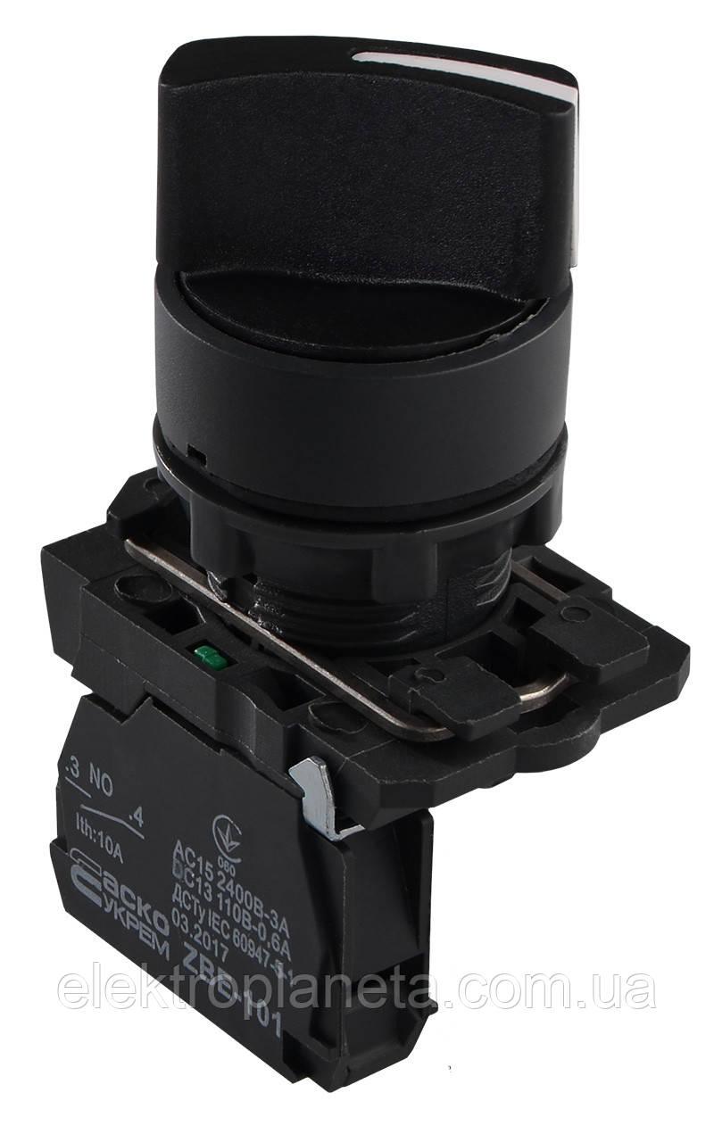 TB5-AD41 Кнопка поворотна 2-о поз. з самоповерн. Станд. ручка