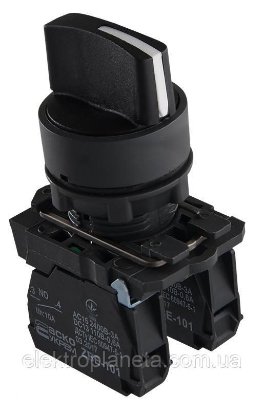 TB5-AD53 Кнопка поворотна 3-и поз. з самоповерненням Станд. ручка