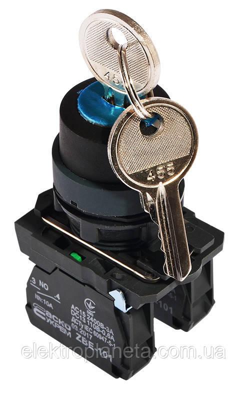 TB5-AG33 поворотна Кнопка з ключем 3-и позиційна