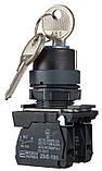 TB5-AG33 поворотна Кнопка з ключем 3-и позиційна, фото 3