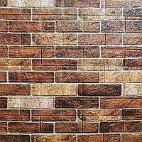 3д панель стіновий декоративний Цегла Коричневий (самоклеючі 3d панелі цегла для стін) 700x770x5 мм, фото 1