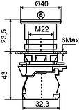 TB5-AS542 Кнопка безпеки.Повернення поворотом. d40mm, фото 6