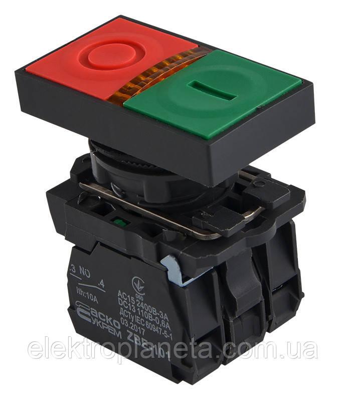 """TB5-AW8365 Кнопка подвійна з підсвічуванням""""Старт/Стоп"""""""