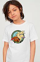 Біла дитяча футболка Злюки бобри