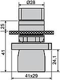 LAY5-ED41 поворотна Кнопка 2-х поз. з самовозвр. Станд. ручка, фото 6