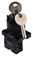 LAY5-EG21 поворотна Кнопка з ключем 2-х поз.