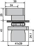 LAY5-EJ33 Кнопка  поворотна 3-и поз. подовжена ручка, фото 6