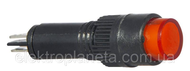 Сигнальна арматура AD22E-8DS червона АС 220V