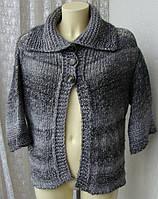 Кофта женская теплая зимняя шерсть бренд Benetton р.48 4252а