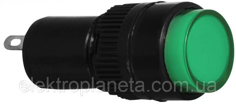 Сигнальна арматура AD22E-10DS зелена АС 220V
