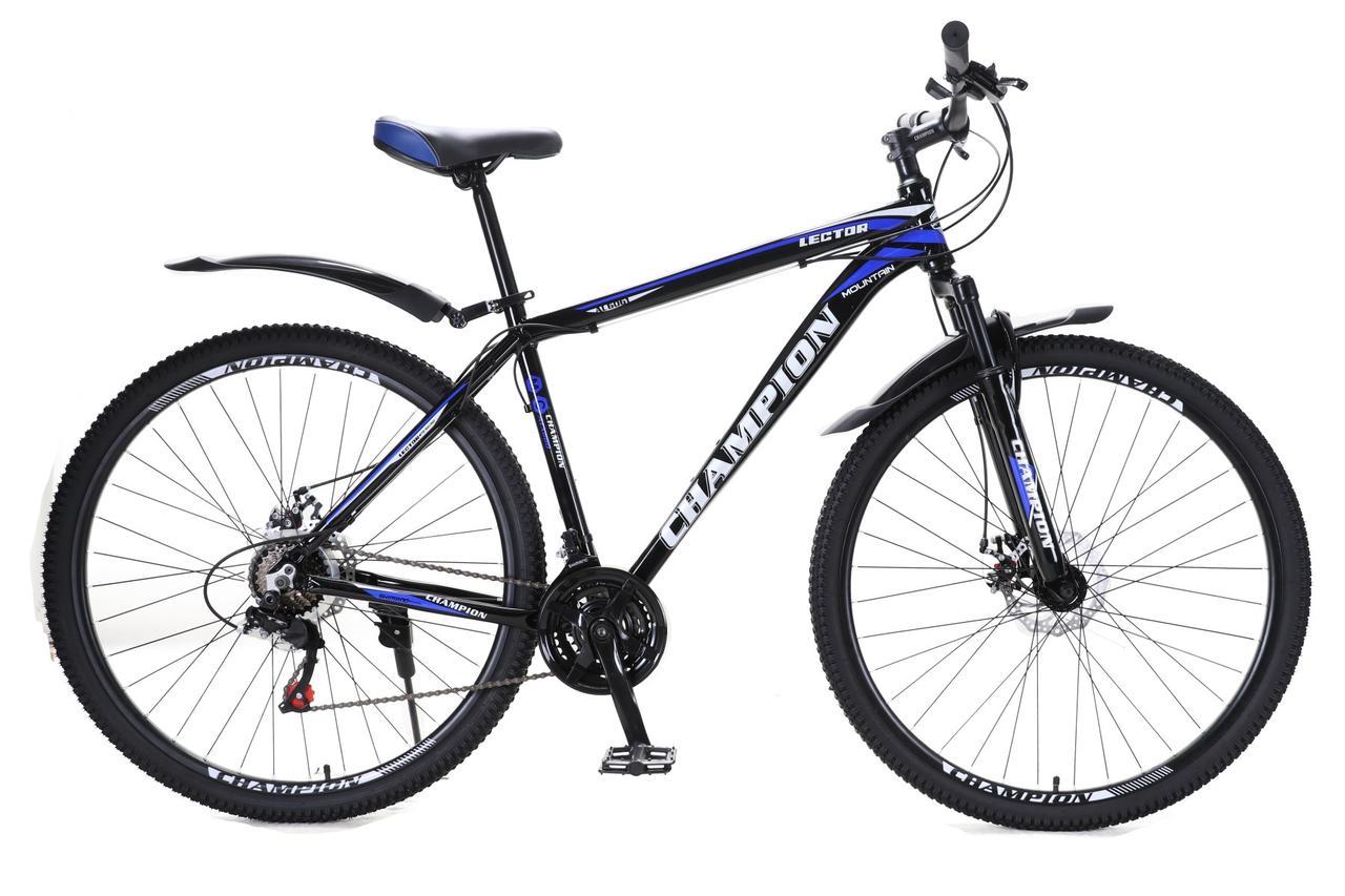"""Велосипед Champion Lector 26"""" алюминиевая рама 17"""" черно-синий"""