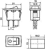 KCD1-2-101N YL/B 1 клав.  з підсвічуванням  (жовта), фото 2