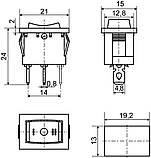 KCD1-2-103 B/B  1 клав.перекидной (чорний), фото 2
