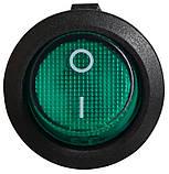 Перемикач клавіатури KCD1-5-101N GR/B 1 клав. круглий з подсвет. (зелений), фото 3
