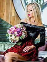 Роскошное платье бархат + тафта S M L