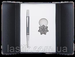@$Набор подарочный Star: ручка шариковая + брелок черный