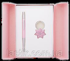 @$Набор подарочный Star: ручка шариковая + брелок розовый
