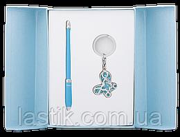 @$Набор подарочный Night Moth: ручка шариковая + брелок синий