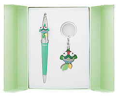 @$Набор подарочный Goldfish: ручка шариковая + брелок зеленый