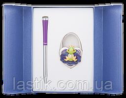 @$Набор подарочный Fairy Tale: ручка шариковая + крючек д/ сумки фиолетовый