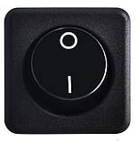 KCD2-10-201 B/B 1 клав. (чорна кругла клавіша), фото 2